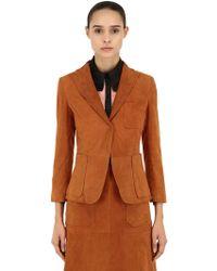 L'Autre Chose - Suede Single Button Jacket - Lyst