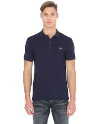 Lacoste - Slim Fit Cotton Piqué Polo Shirt - Lyst