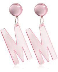 Moschino - M Clip-on Earrings - Lyst
