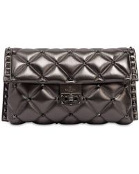Valentino - Candy Metallic Leather Clutch - Lyst
