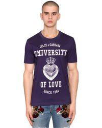 Dolce & Gabbana - University Of Love Print Jersey T-shirt - Lyst