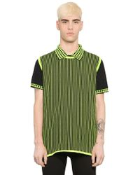 Christopher Kane - Striped Cotton Blend Sweater Vest - Lyst