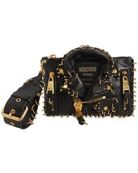 Moschino - Piercing Biker Leather Clutch - Lyst