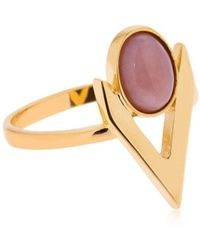 Iosselliani - V Cabochon Pink Opal Ring - Lyst