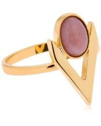 Iosselliani - V Cabochon Pink Opal Ring - Lyst