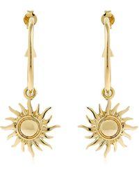 Schield - Hoop Earrings W/ Sun Charms - Lyst