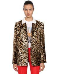 Filles A Papa - Leopard Print Velvet Boyfriend Blazer - Lyst