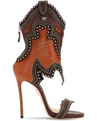 "DSquared² - ""Sandali """"rodeo Girl"""" In Pelle 120mm"" - Lyst"
