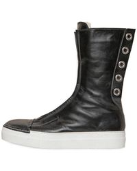 Rocco P - 20mm Eyelets Leather High Top Sneakers - Lyst