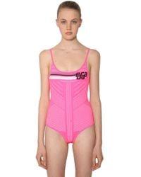 Prada - Logo Intarsia Stretch Bodysuit - Lyst
