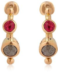DORETTE - Simple Earrings, 18kt Gold - Lyst
