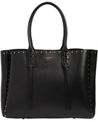 Lanvin - Studded Nappa Leather Tote Bag - Lyst