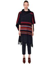 Tory Burch - Striped Wool Poncho W/ Stripes - Lyst