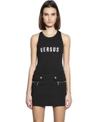 Versus  | Embroidered Logo Cotton Jersey Bodysuit | Lyst
