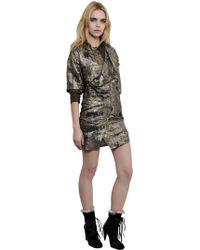 Isabel Marant - Printed Silk Georgette Lurex Dress - Lyst
