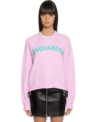 DSquared² - Logo Print Cotton Sweatshirt - Lyst