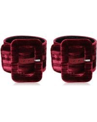 Attico - 2 Crushed Velvet Buckled Ankle Cuffs - Lyst