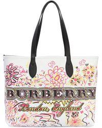 Burberry - Medium Doodle Canvas Tote Bag - Lyst