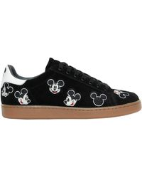 MOA - Mickey Mouse Embroidered Suede Trainers - Lyst