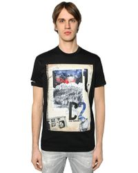 DSquared² - Notebook Printed Cotton Jersey T-shirt - Lyst