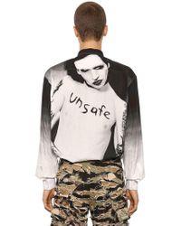 Vetements - Marylin Manson Printed Poplin Shirt - Lyst