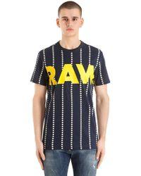 G-Star RAW - Wabash Stripe Print Cotton T-shirt - Lyst