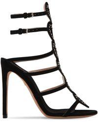 dc20a774cb94 Lyst - Giambattista Valli Embellished Block Heel Sandal in Black