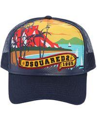 DSquared² - Beach Printed Canvas & Mesh Trucker Hat - Lyst