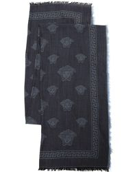 Versace - Medusa Fine Wool & Silk Scarf - Lyst