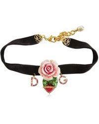 Dolce & Gabbana | Rose Velvet Chocker | Lyst