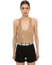 Alexandre Vauthier - Embellished Jersey Tank Top - Lyst