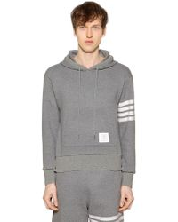 Thom Browne - Intarsia Stripes Cashmere Blend Hoodie - Lyst