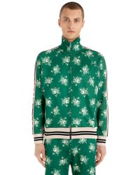 Gucci - Printed Jersey Track Jacket - Lyst