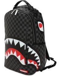 """Sprayground Rucksack """"black Checkered Shark In Paris"""""""