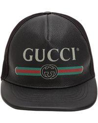 Lyst - Casquette à empiècement à logo Gucci pour homme en coloris Noir edaa2c3ff3d