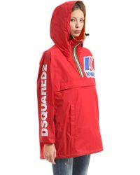 DSquared² - K-way Reversible Logo Nylon Rain Jacket - Lyst