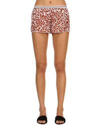 Love Stories - Leopard Print Pajama Shorts - Lyst