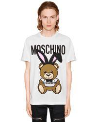 Moschino - Camiseta De Jersey De Algodón Estampada - Lyst