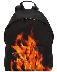 Givenchy - Flame & Logo Printed Nylon Backpack - Lyst