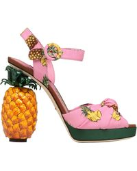 Dolce & Gabbana - 140mm Keira Pineapple Cady Sandals - Lyst