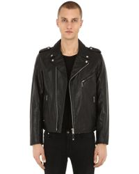 "Schott Nyc - Giacca Biker ""perfect"" In Pelle - Lyst"