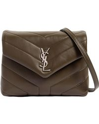Lyst - Saint Laurent Toy Loulou Leather Shoulder Bag in Green 67b8b05257250