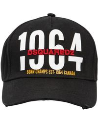 DSquared² - 1964 Printed & Embroidered Canvas Hat - Lyst