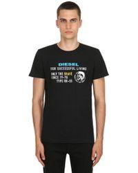 DIESEL - Archive Logo Cotton Jersey T-shirt - Lyst