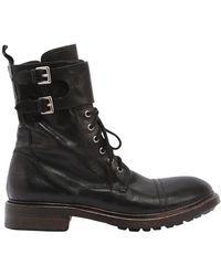 Preventi - Marines Leather Combat Boots - Lyst