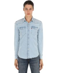 23254040a5a Red Cast Stone Barstow Western Denim Shirt.  84  71 (15% off). Standout ·  Levi s - Barstow Western Shirt - Lyst
