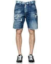 DSquared² - Shorts In Denim Destroyed - Lyst