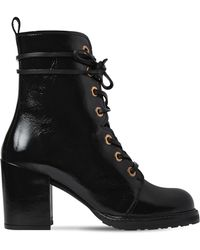 Stuart Weitzman - 60mm Climbing Patent Leather Ankle Boots - Lyst