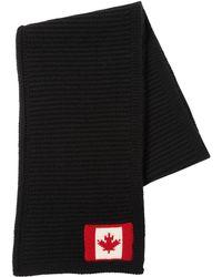 DSquared² - Wool Scarf W/ Canadian Flag - Lyst