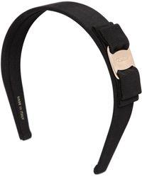 Ferragamo - Logo Bow Cotton Grosgrain Headband - Lyst